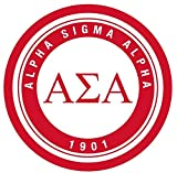 Alpha Sigma Alpha Sticker Sorority Seal Decal Exclusively Designed 3 Inch Greek for Window Laptop Computer Car ASA