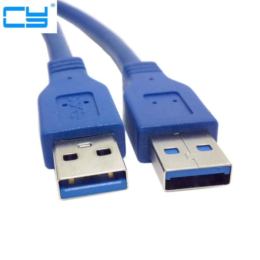 Computer Cables New Generic USB Technology Super USB 3.0 Standard A Type Male to Male Cable 0.3M 0.6M 1M 1.5M 3M 5M 3FT 5FT 10FT Cable Length: 1.5m, Color: Blue