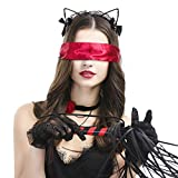 Zoylink 5PCS Costume Headband Set Hair Hoop with Tassel Whip Choker Lace Gloves Eye Mask