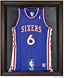 NBA Logo Brown Framed Jersey Display Case - Mounted Memories Certified - NBA Jersey Display Cases