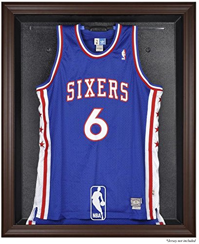 NBA Logo Brown Framed Jersey Display Case - Mounted Memories Certified - NBA Jersey Display Cases by Sports Memorabilia