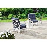 Better Homes and Gardens Carter Hills 3-Piece Outdoor Chat Set, Seats 2 (Blue)