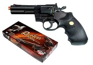TSD Sports UA937B 4 Inch Spring Powered Airsoft Revolver (Black)