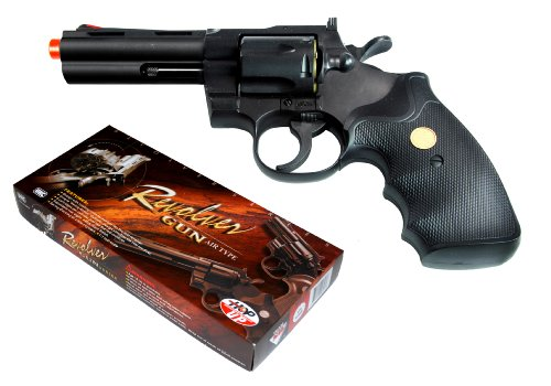 TSD Sports 4-Inch Barrel Spring Powered Airsoft Revolver