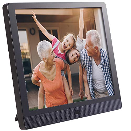 Pix-Star 15 Inch Wi-Fi Cloud Digital Photo Frame FotoConnect XD with Email, Online Providers, iPhone & Android app, DLNA and Motion Sensor (Black) (Best Service Provider For Iphone)