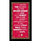 MLB Cleveland Indians Subway Sign Wall Art with Authentic Dirt from Jacobs Field, 9.5x19-Inch