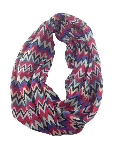 Multi Color Zig Zag Infinity Fashion Scarf
