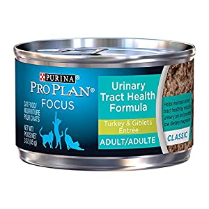 Purina Pro Plan Focus Adult Urinary Tract Health Formula Turkey & Giblets Entree Cat Food, 3 oz