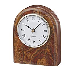 Designs by Marble Crafters CL40-SB Onyx Desk Clock