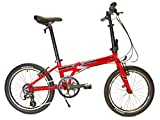 EuroMini Urbano 20' Folding Bike-Lightest Aluminum Frame Genuine Shimano 8-speed 24lb