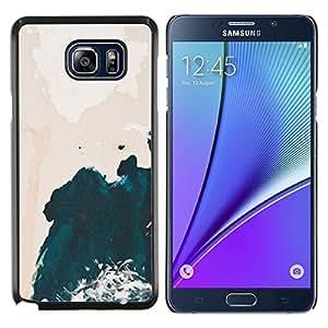 YiPhone /// Prima de resorte delgada de la cubierta del caso de Shell Armor - Arte Wave Pink Sky Acuarela - Samsung Galaxy Note 5 5th N9200
