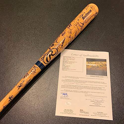Incredible Detroit Tigers Legends Signed Bat With Over 70 Autographs! JSA COA
