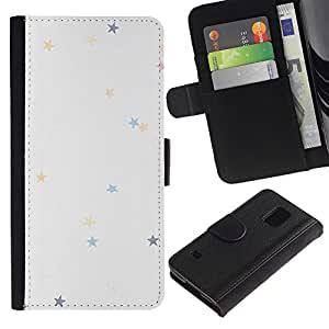 KingStore / Leather Etui en cuir / Samsung Galaxy S5 V SM-G900 / Couleurs pastel Wallpaper