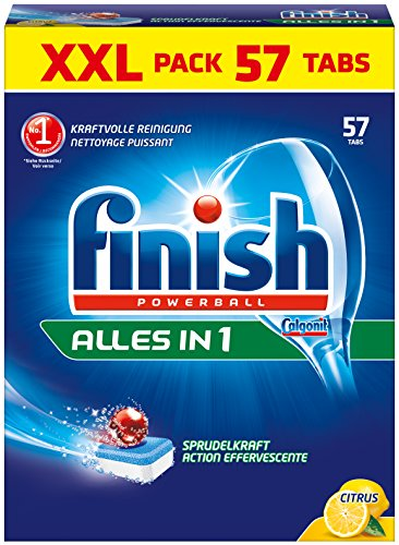 Finish Calgonit Alles in 1 Citrus, Spülmaschinentabs, XXL, 57 Tabs