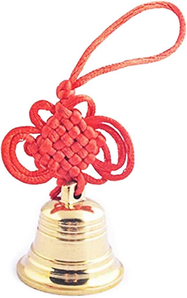 Feng Shui Brass Good Luck,Protection Hanging Bell + One Free Red String Bracelet SKU:Y1355