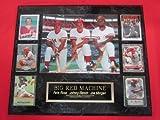 Joe Morgan Pete Rose Johnny Bench Big Red Machine 6 Card Collector Plaque w/8x10 RARE Photo