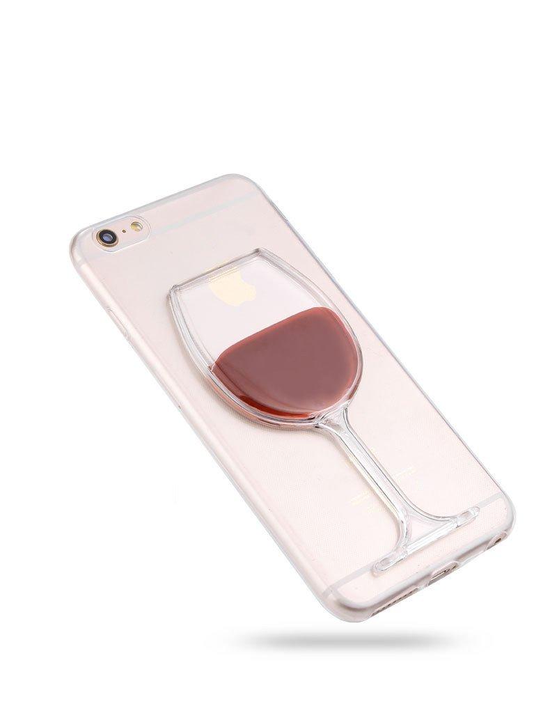 iPhone 6 Plus 6s Plus Case Rihan 3D Design Flowing Liquid Red Wine Design Transparent Plastic Hard Case for iPhone 6/6s Plus 5.5 inch (iPhone 6/6s plus Case)