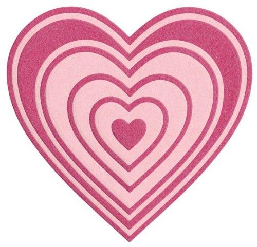 (QUICKUTZ Lifestyle Crafts Nesting Hearts Cookie Cutter Die)