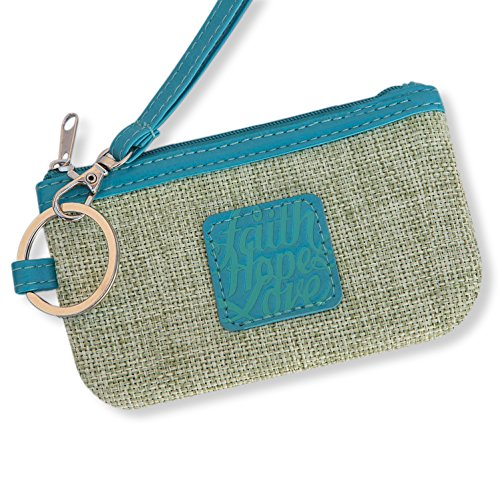 Bellerina Christian Gifts for Women Coin Purse Faith Hope Love Credit Card Case by Bellerina