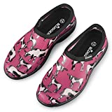Women's Cowbella Pink Sloggers Waterproof Garden Shoes, Cowbella Pink, 7 - Made in the USA