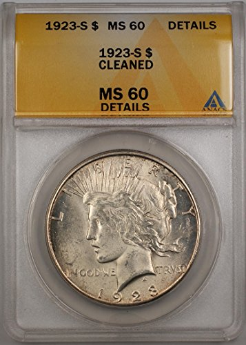 1923 S Morgan Silver Dollar MS-60 ANACS