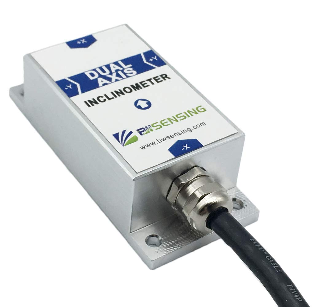 Bewis Tilt Sensor BWL320 Dual Axis Inclinometer with 0.01° Resolution and 0.1°Accuracy Voltage Analog Output