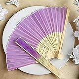 Wholesale Silk Folding Wedding Party Favor Lavender YSefa 50 pcs