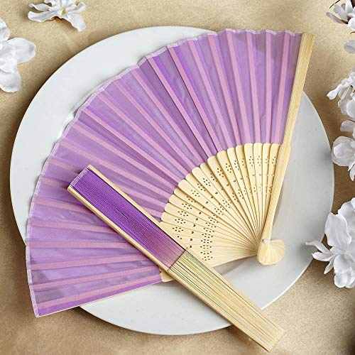 Wholesale Silk Folding Wedding Party Favor Lavender YSefa 50 pcs by YSefa (Image #2)