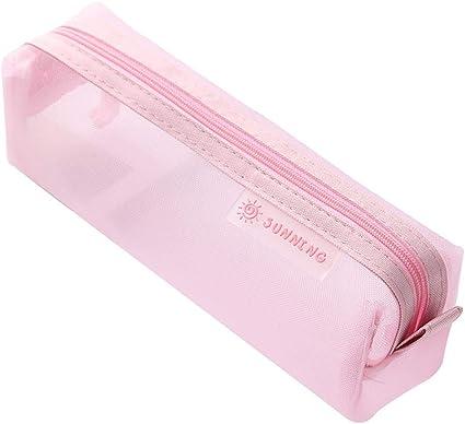 1 estuche de papel de carta de Fansi para el colegio, uso diario, color rosa 20.5 * 6.5 * 6 cm: Amazon.es: Oficina y papelería