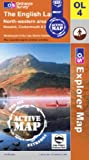 The English Lakes - North Western Area (OS Explorer Map Active)