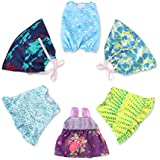 """6 Pack Baby Doll Dresses Outfits for 10""""-12"""" Baby Doll,Alive Accessories Clothes for 10-12 Inch Dolls Girl"""