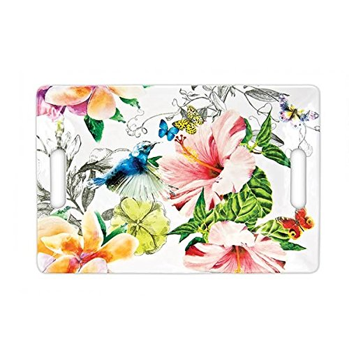 Plumeria Flower Bowl (Michel Design Works Melamine Serving Tray, Medium, Paradise)