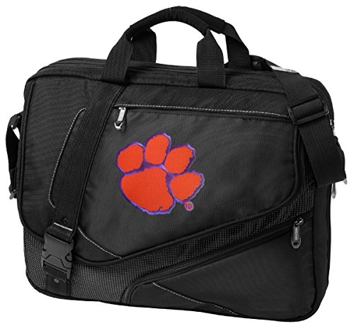 Large Clemson University Laptop Bag OUR BEST Clemson Tigers Computer Bag by Broad Bay