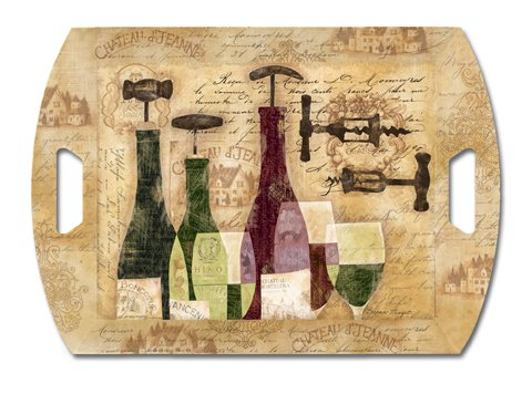 Keller-Charles Wine Bottles Butler Tray