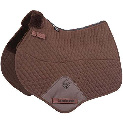 (Le Mieux Lambskin Close Contact Jumping Square Half Lined Saddle Pad Large Brown )
