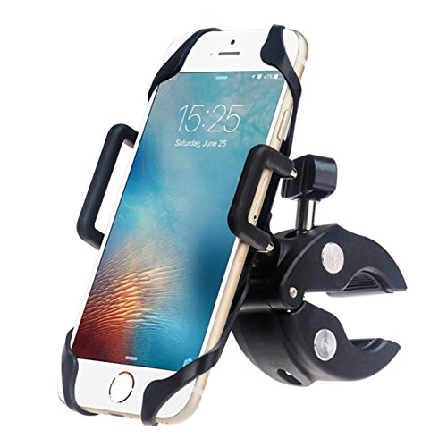 EXSHOW Bike Motorcycle Phone Holder with Safety and Full Rotation for iPhone 7plus/7/6s/6 Plus/5s/4,Samsung Galaxy S4/5/6/7/8,Note 2/3/4/5/6/7,LG,HTC and All the 3.5-6 inches Phones and GPS