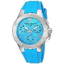 TechnoMarine Women's Cruise Medusa 40mm Blue Silicone Band Steel Case Swiss Quartz Analog Watch TM-115084