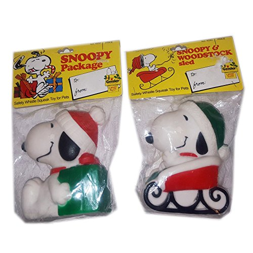 peanuts-santa-snoopy-squeaky-dog-toys-gift-bundle-2-piece