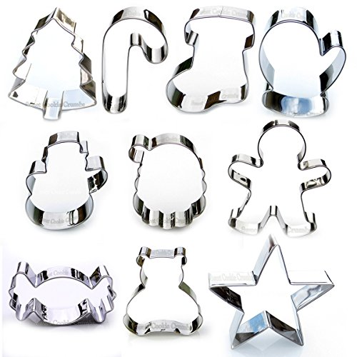 Christmas Cookie Cutter Set - 10 Piece Stainless ()