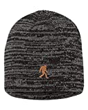 Adult Bigfoot Sasquatch Embroidered Marled Knit Beanie Cap