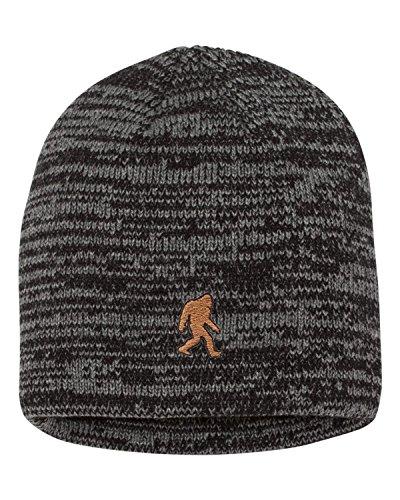 d655a136ddfa3 Adult Bigfoot Sasquatch Embroidered Marled Knit Beanie Cap