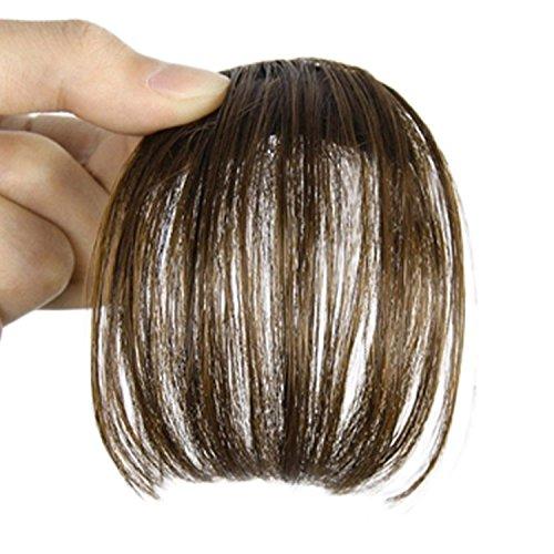 Smilco Mini Ultra Thin Fake Hair Bangs Extensions Clip In Ba