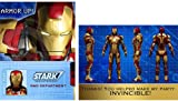 Iron Man Party Supplies - Iron Man Invitations & Thank You Notes - 16 Count