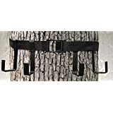 TREESTAND GEAR HANGER- 4 STEEL J-HOOKS ON YOUR TREE IN SECONDS! - THE ONLY GEAR HANGER WITH NO PLASTIC PARTS - NEVER BUY ANOTHER - IN YOUR TREE, A LITTLE HELP GOES A LONG WAY!