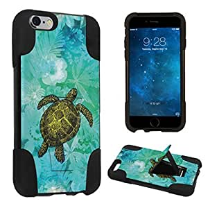 DuroCase ? Apple iPhone 6s / Apple iPhone 6 - 4.7 inch Kickstand Bumper Case - (Sea Turtle Floral)