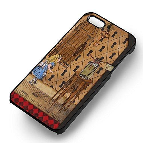 Alice in Wonderland Vintage pour Coque Iphone 6 et Coque Iphone 6s Case (Noir Boîtier en plastique dur) Y2P4IN