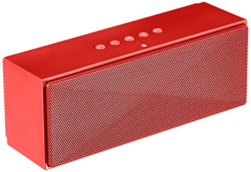 AmazonBasics Portable Bluetooth Speaker Red