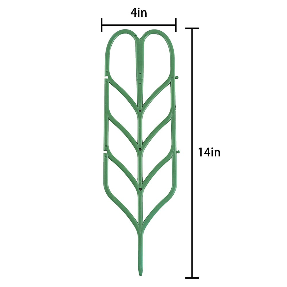 Y Plant Supports Trellis Leaf Shape for Potted Plant Winding Climbing DIY Garden Green Povkeever Garden Plant Support 6Pcs