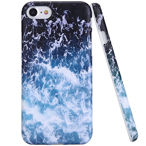 iPhone 7 Case Sea Waves,ZADORN Glamour Serious Soft Case,IMD Full Covered TPU Protective Case for iPhone 7 (4.7inch) only -017