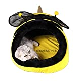 MYIDEA Warm Guinea pigs Bed,Hedgehog Winter Nest,Rat Chinchillas & Small pet Animals Bed/Cube/House, Habitat, Lightweight, Durable, Portable, Cushion Big Mat (Dog&Cat - M, Bees)